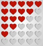 Set of hearts icons Stock Photos