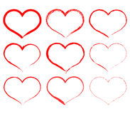 Set of hearts Royalty Free Stock Photo