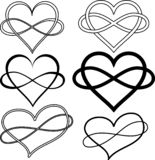 Set Hearts images with nfinity sign illusion of volume vector illustration