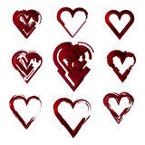 Set of hearts,love, abstract,, stylized Stock Photography