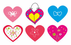 A set of hearts for Lovers.Vector illustration. Royalty Free Stock Photo