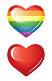Set of hearts, rainbow heart. Royalty Free Stock Image