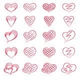 Set of hearts Stock Photo