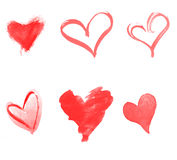 A set of hearts Royalty Free Stock Photos