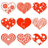 Set of hearts. Stock illustration. Stock Photography