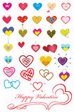Set of hearts.Valentine Stock Photography