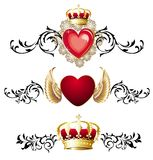 Set of hearts for Valentine's day Royalty Free Stock Photo