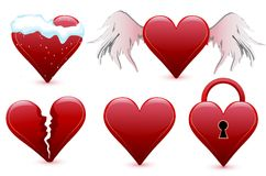 Set hearts, valentine's day Stock Photo