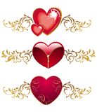 Set of hearts for Valentine's day Royalty Free Stock Images