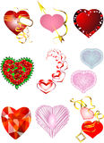 Set of hearts for Valentine's Day Stock Photo