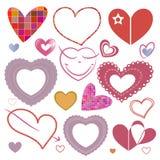 Set of hearts Stock Image