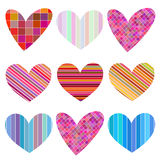 Set of hearts for Valentines Day. Set of festive hearts for Valentines Day Stock Photo