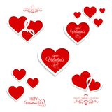 Set of hearts for Valentine's Day Stock Images