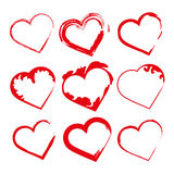 Set hearts, Valentine's day promotions. Set hearts in red for Valentine's day promotions or something love Royalty Free Stock Photo