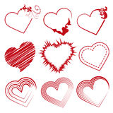 Set hearts, Valentine's day promotions. Set hearts in red for Valentine's day promotions or something love Stock Photos