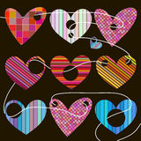 Set of hearts Stock Photography