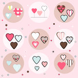 Set of Hearts, Vector. Collection of Various Hearts, Vector Stock Image