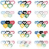 Set Hearts Stock Photos