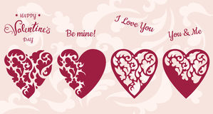 Set of hearts. Stock Photography
