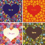 Set of hearts Royalty Free Stock Image
