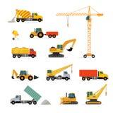 Set of Heavy Construction Machines Illustrations Royalty Free Stock Image