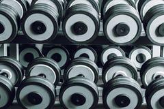 Set of heavy equipment for training Stock Image