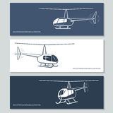 Set of helicopter silhouettes Royalty Free Stock Photography