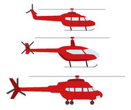 Set of helicopters Royalty Free Stock Photos