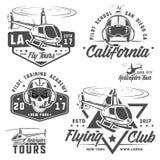 Set helikopter, śmigłowcowy projekt, śmigłowcowy wektor Fotografia Royalty Free