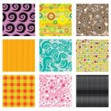 Set helle abstrakte Muster Lizenzfreies Stockfoto