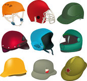 Set of helmets Royalty Free Stock Image
