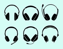 Set hełmofony Fotografia Royalty Free