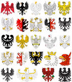 Set of heraldic eagles of Poland Royalty Free Stock Photography