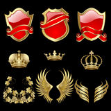 Set of heraldic elements Royalty Free Stock Photos