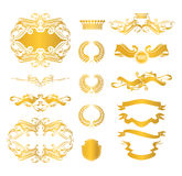 Set of heraldic elements Royalty Free Stock Images