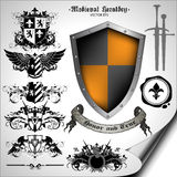 Set of heraldic elements Royalty Free Stock Image