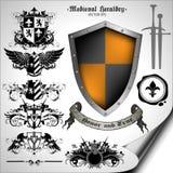 Set of heraldic elements Royalty Free Stock Image