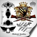 Set of heraldic elements Royalty Free Stock Photos