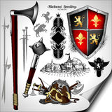 Set of heraldic elements Royalty Free Stock Photography