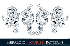 Set of heraldic flourish patterns. For your vintage design. Layered. Vector EPS 10 illustration stock illustration