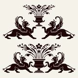 Set of heraldic ornaments Royalty Free Stock Image
