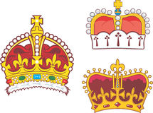 Set of heraldic royal and prince crowns Stock Photography