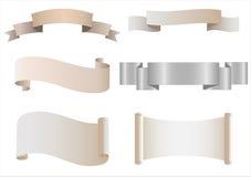Set of Heraldic Scrolls Stock Image