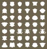 Set heraldic shield tag label Royalty Free Stock Photos
