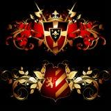 Set of heraldic shields Stock Image