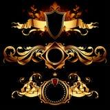 Set of heraldic shields stock photos