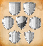 Set of heraldic shields Royalty Free Stock Photography