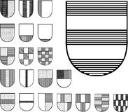 Set of Heraldic Shields Royalty Free Stock Images