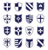 Set of heraldic shields on white background Royalty Free Stock Image