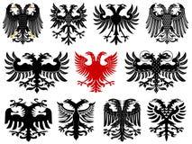 Set heraldyczni niemieccy orły Obrazy Royalty Free